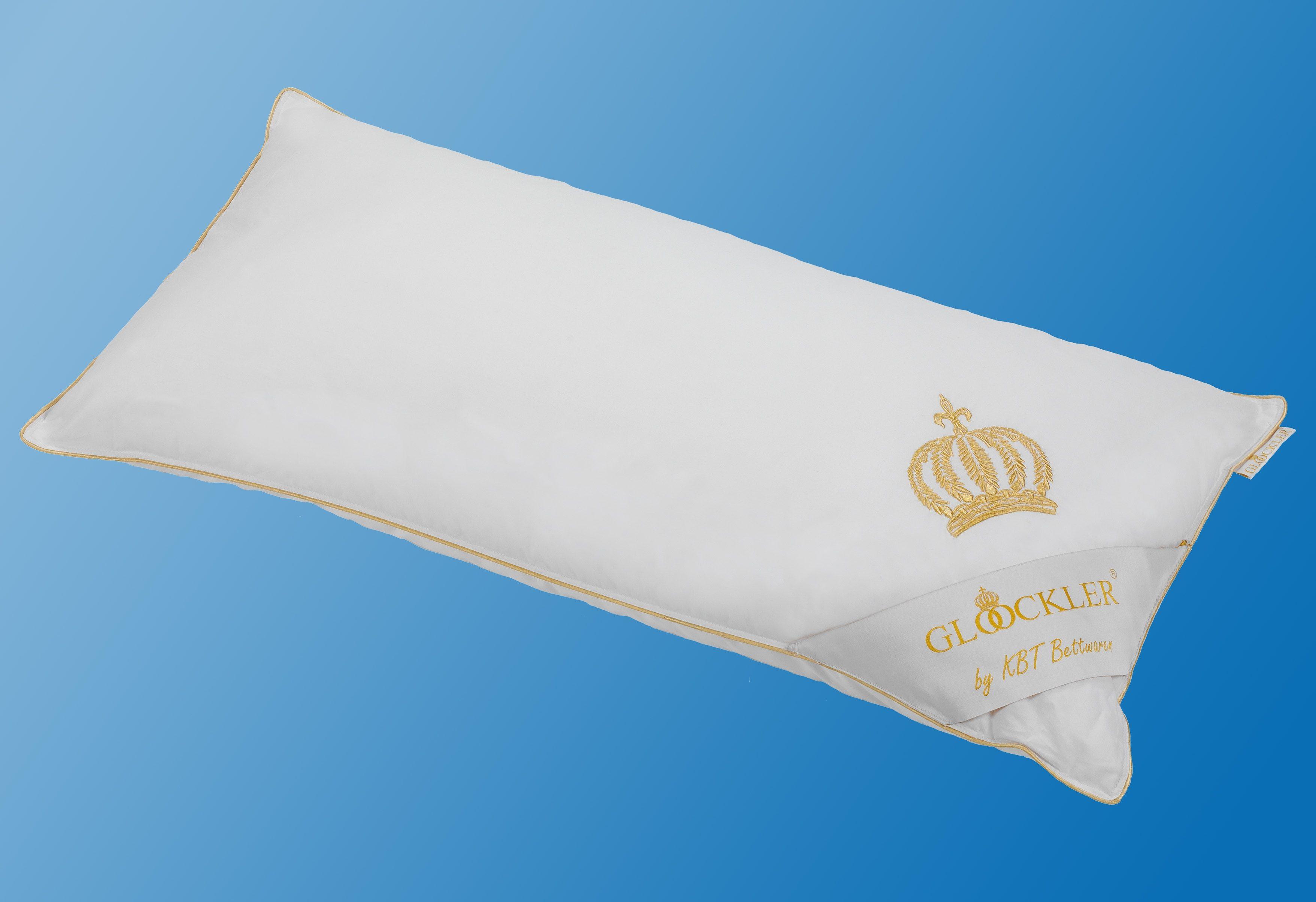Microfaserkissen Glööckler Kopfkissen 80x80 cm weiß GLÖÖCKLER by KBT Bettwaren