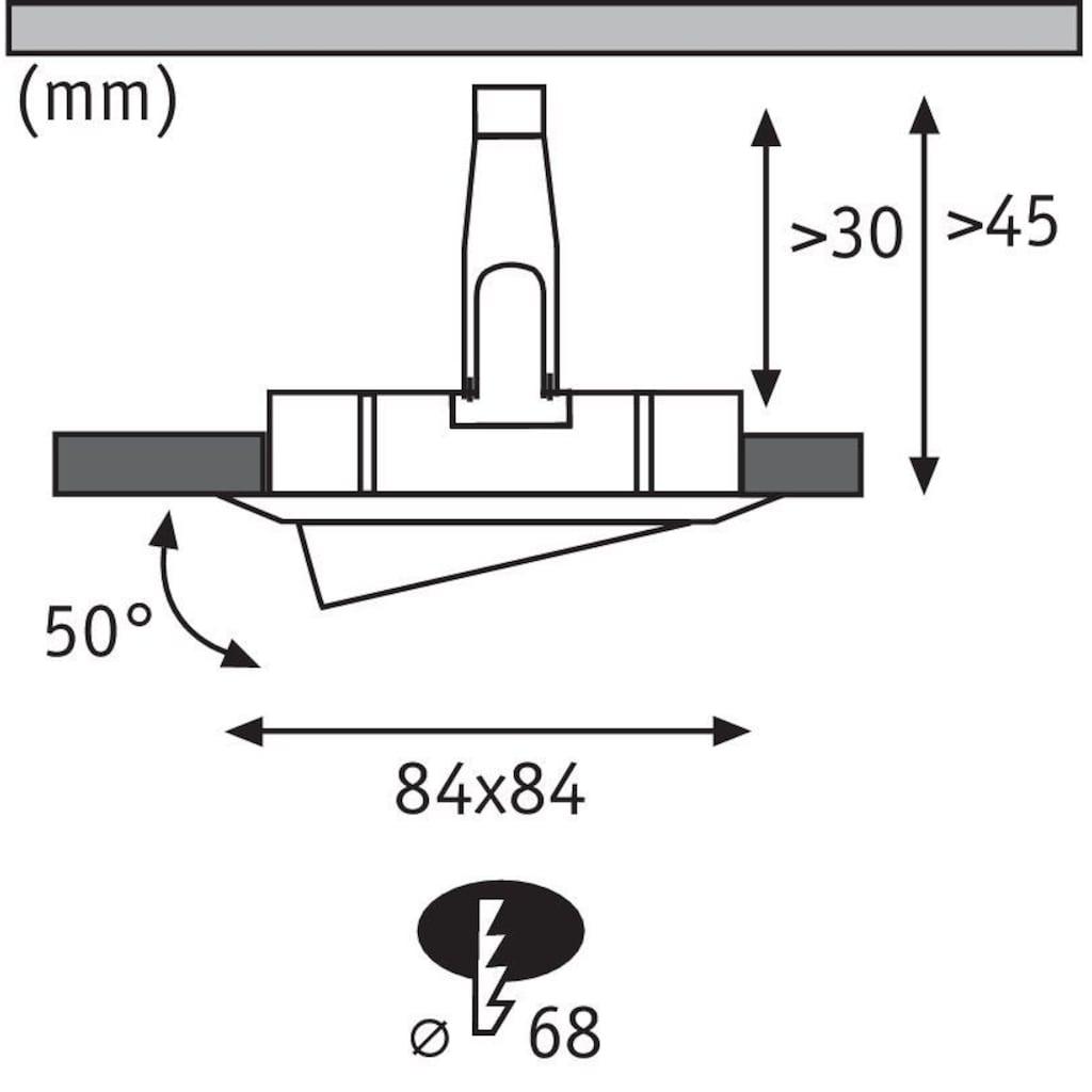 Paulmann LED Einbaustrahler »Nova Plus eckig 3x6,8W Alu schwenkbar dimmbar«, 3 St., Warmweiß