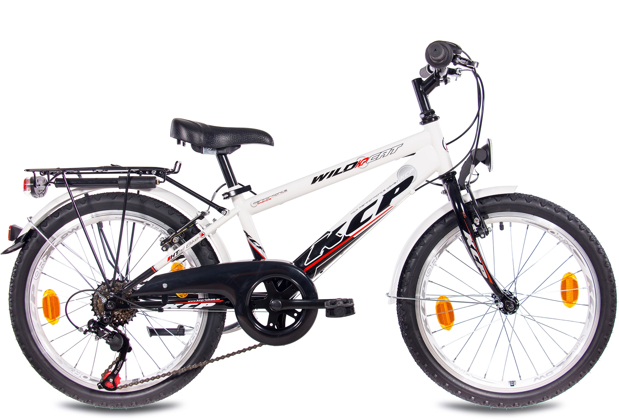KCP Kinderfahrrad Wild Cat, 6 Gang, Shimano, Tourney RD-TZ500-GS Schaltwerk, Kettenschaltung schwarz Kinder Kinderfahrräder Fahrräder Zubehör