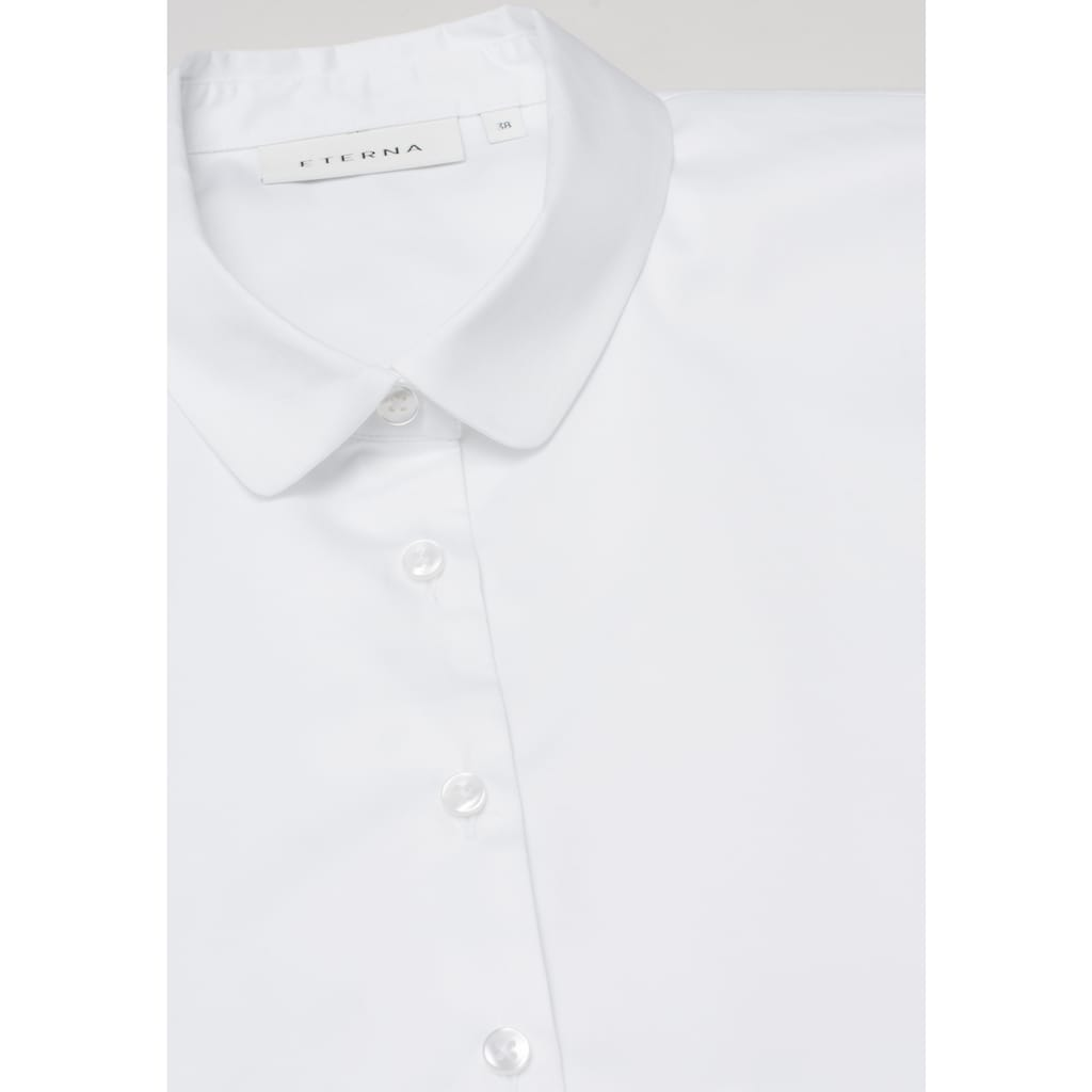 Eterna Satinbluse »MODERN CLASSIC«, ohne Arm Bluse/Einsteckkragen