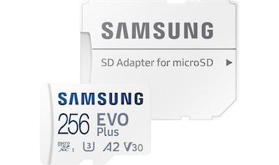 Samsung Speicherkarte »EVO Plus 256GB microSDXC Full HD & 4K UHD inkl. SD-Adapter«,... kaufen