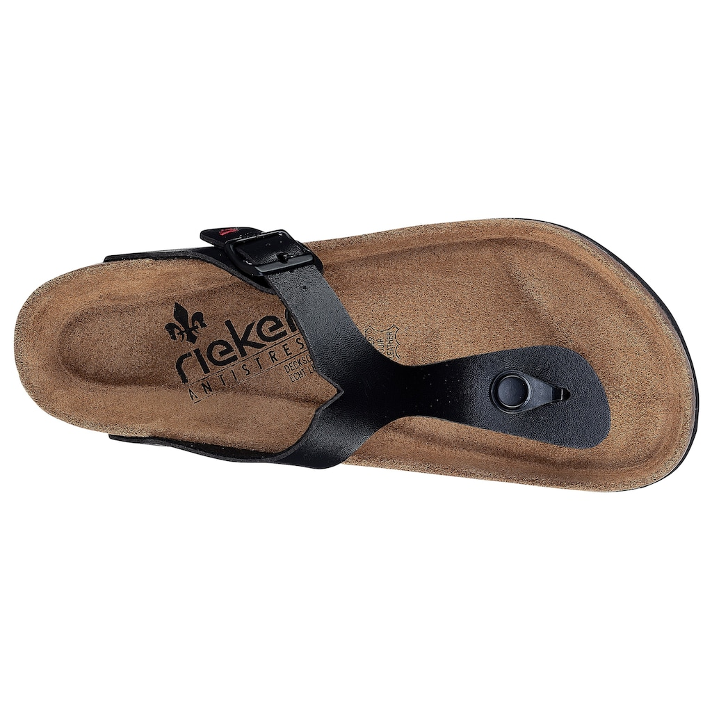 Rieker Zehentrenner, mit vorgeformtem Fußbett