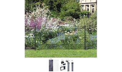 GAH ALBERTS Set: Schweißgitter »Fix - Clip Pro®«, 81 cm hoch, 10 m, anthrazit beschichtet, zum Einbetonieren kaufen