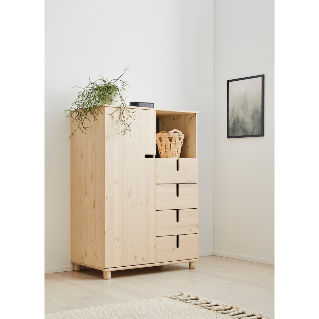 OTTO products Highboard »Aileen«, aus Kiefer massiv, Breite 101 cm, vegan, Designed by Leonhard Pfeifer