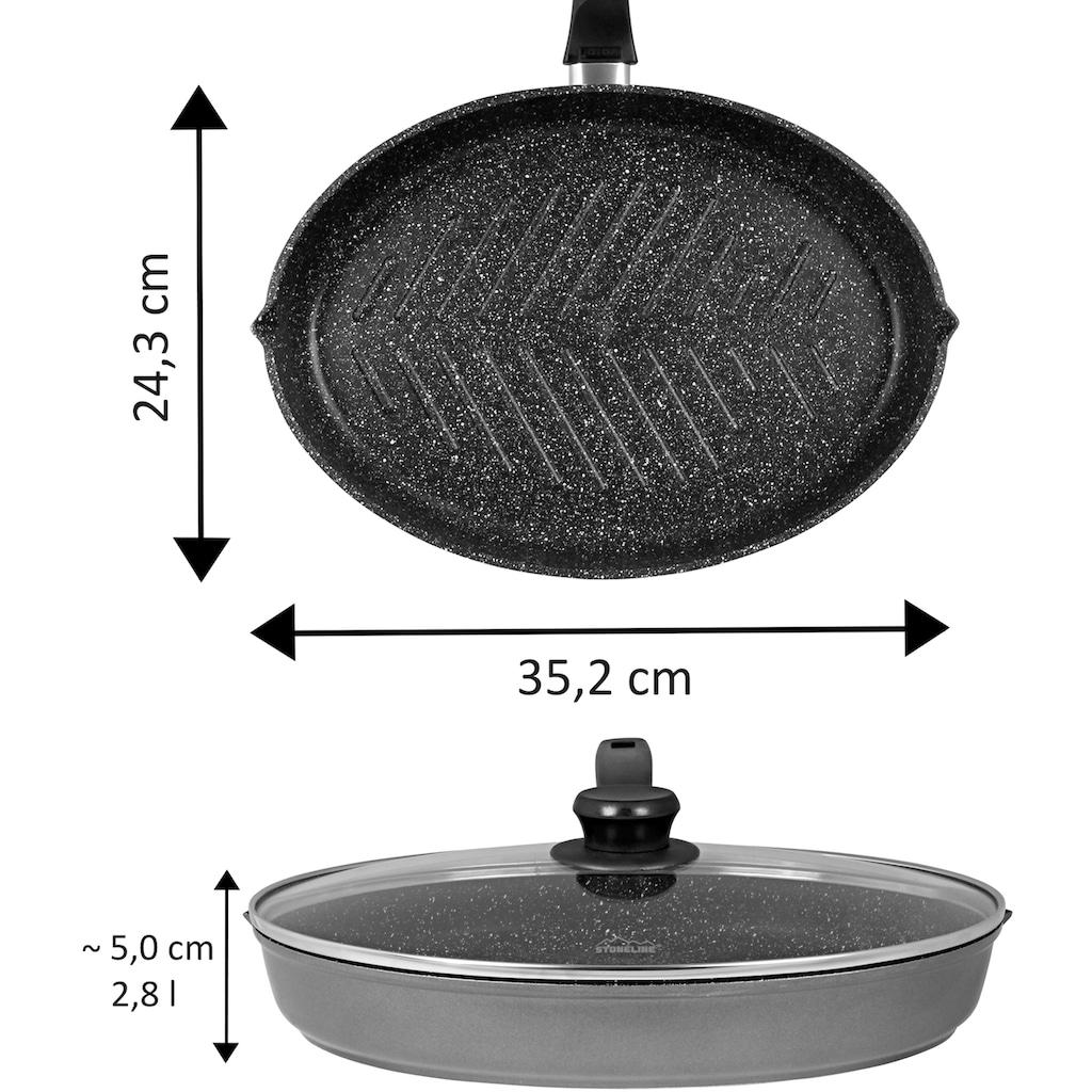 STONELINE Fischpfanne »XXL«, Aluminiumguss, auch ideal für Schnitzel, Induktion
