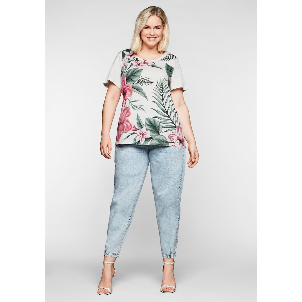 Sheego T-Shirt, mit floralem Frontdruck