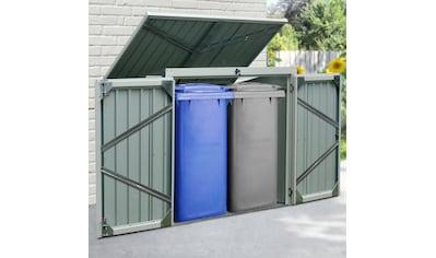KONIFERA Mülltonnenbox »Tobi 2«, für 2x240 l, BxTxH: 158x134x101 cm kaufen