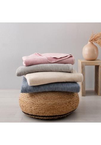 OTTO products Wohndecke »Jannis«, in Melange-Optik und aus zertifizierter Bio-Baumwolle kaufen