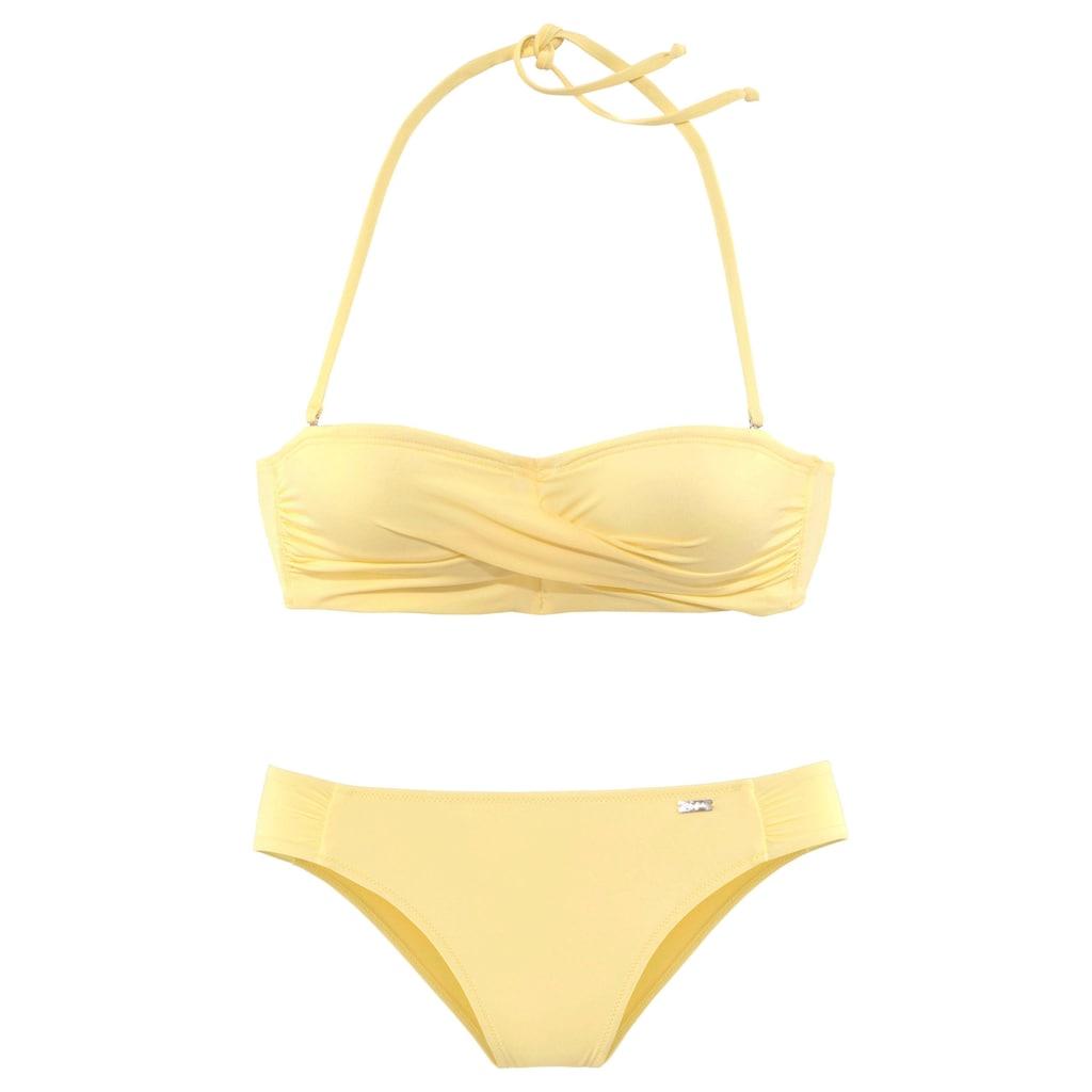 Buffalo Bandeau-Bikini, mit getwisteter Optik