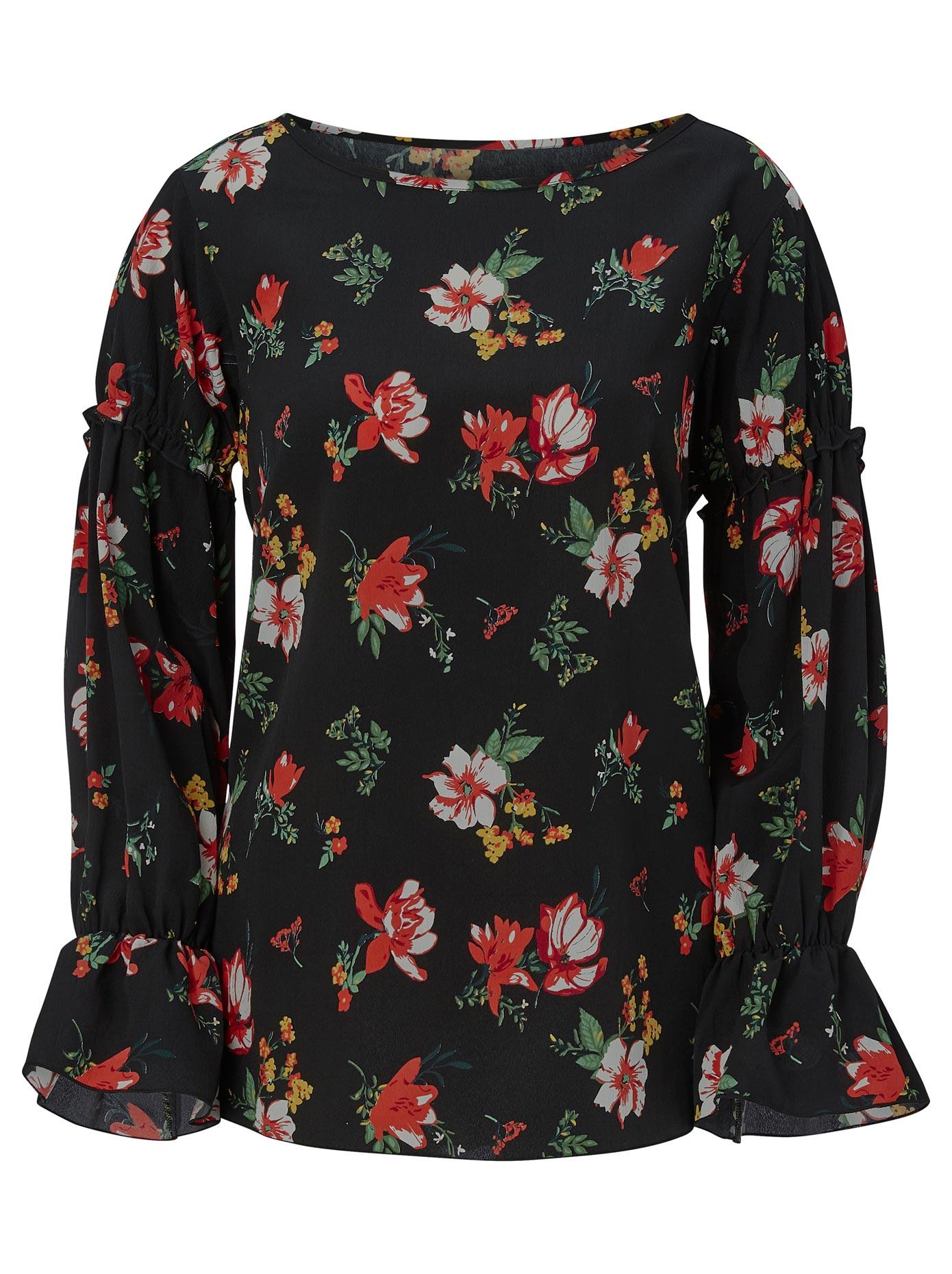 Alessa W Bluse mit romantischem Blütendessin