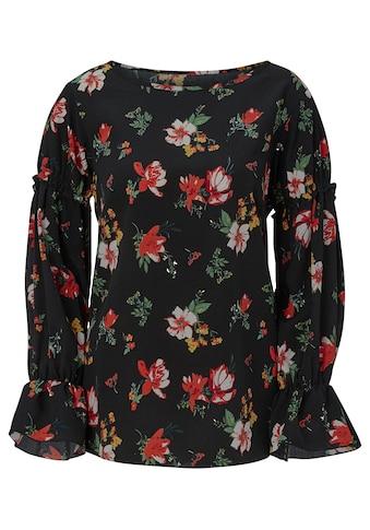 Alessa W. Bluse mit romantischem Blütendessin kaufen