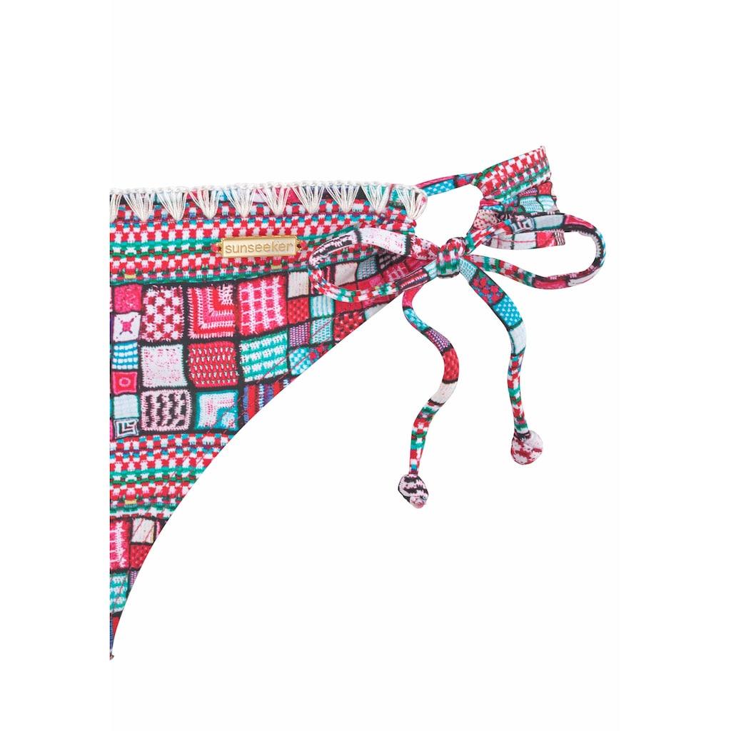 Sunseeker Triangel-Bikini »Cross«, mit trendigem Print