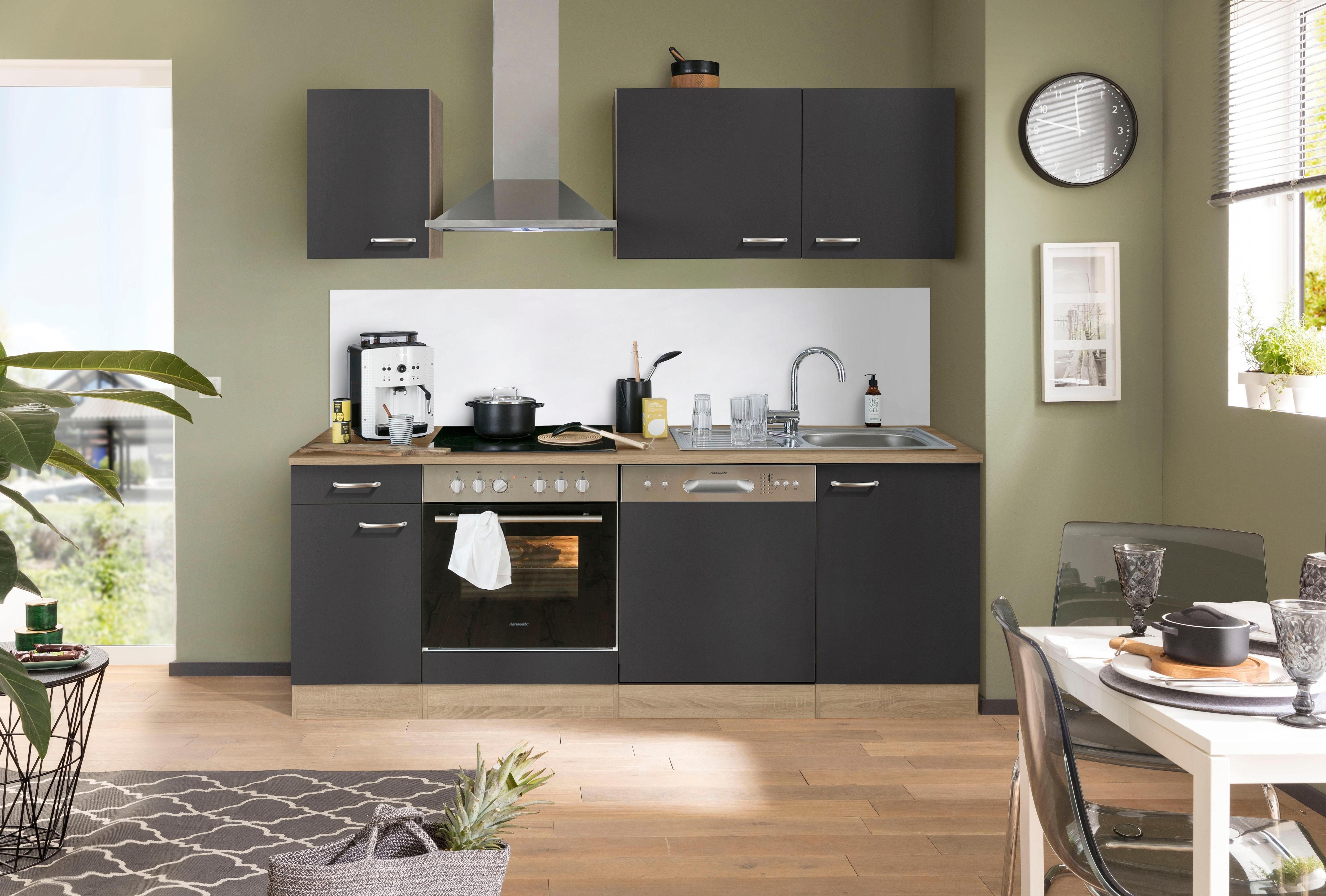 OPTIFIT Küchenzeile Parare, 210 bzw. 270 cm mit Hanseatic E-Geräten, wahlweise mit oder ohne Kühlschrank | Küche und Esszimmer > Küchen > Küchenzeilen | Optifit