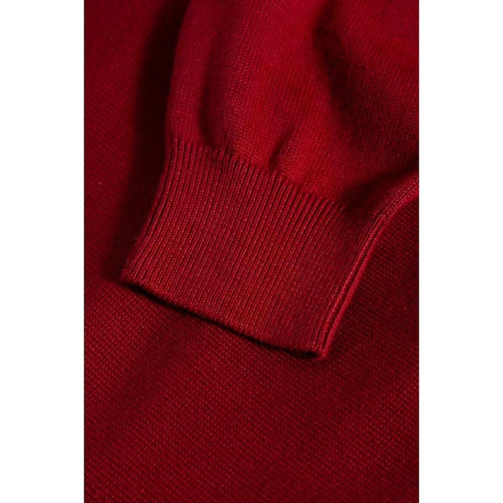 Way of Glory V-Ausschnitt-Pullover, mit dezenter Logo-Stickerei auf der Brust