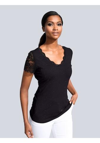 Alba Moda Shirt mit femininer Spitze kaufen