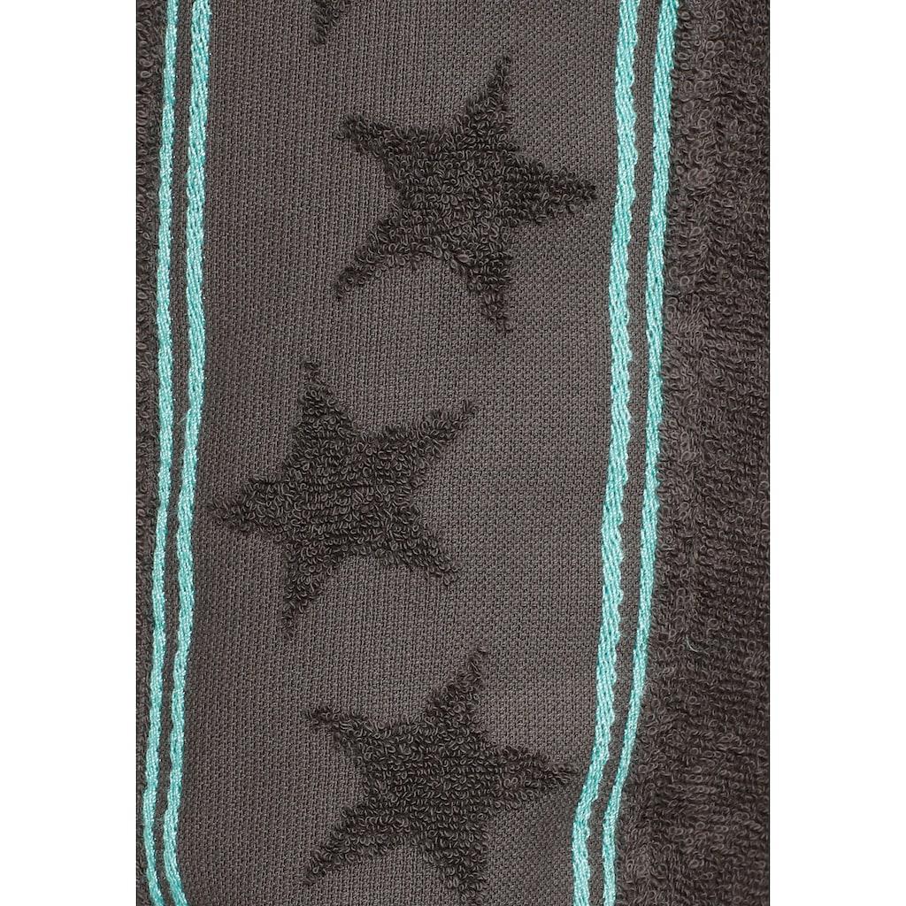 my home Damenbademantel »Stars«, (1 St.), mit Sternen auf dem Ärmel