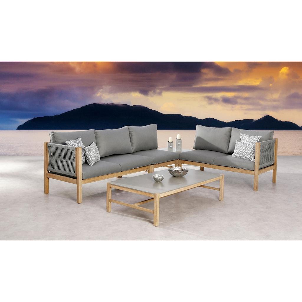 Best Loungesessel »Mittelteil Lounge Madagaskar Grand«, Mittelteil, Eucalyptus, inkl. Auflagen