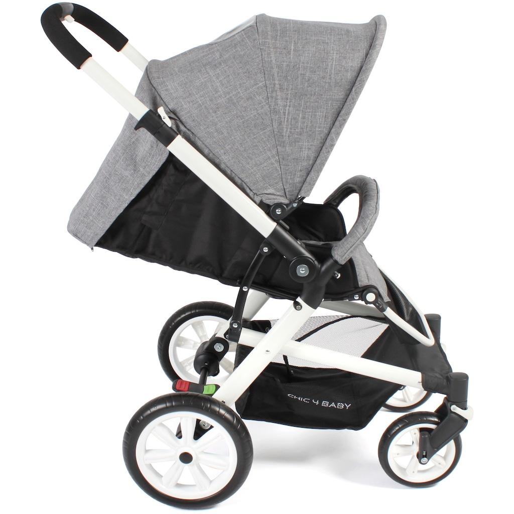 CHIC4BABY Sport-Kinderwagen »Boomer, Melange Grau«, 15 kg, ; Kinderwagen, Buggy, Sportwagen, Kinder-Buggy, Kinderbuggy