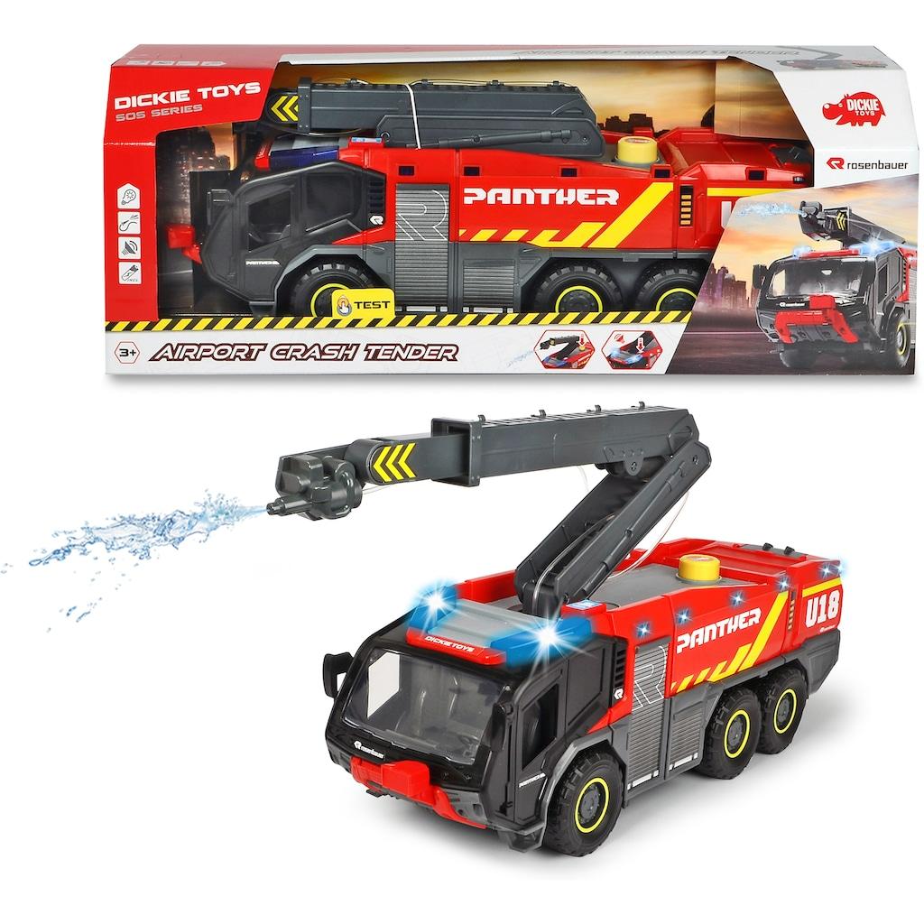 Dickie Toys Spielzeug-Feuerwehr »Airport Crash Tender«, mit Licht und Sound