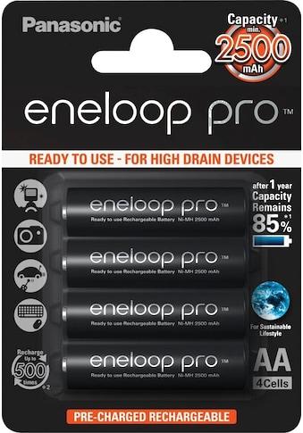 Panasonic wiederaufladbare Batterien »eneloop pro Akkus BK3HCDE4BE«, (4 St.) kaufen