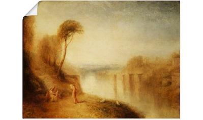 Artland Wandbild »Landschaft: Frau mit Tamburin« kaufen