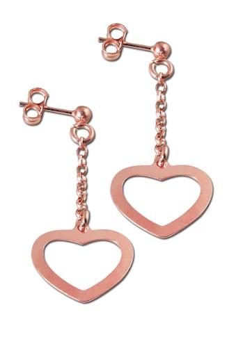 Adelia´s Paar Ohrhänger »Ohrringe Herz 925 rosé Silber silber«, Herz silber kaufen
