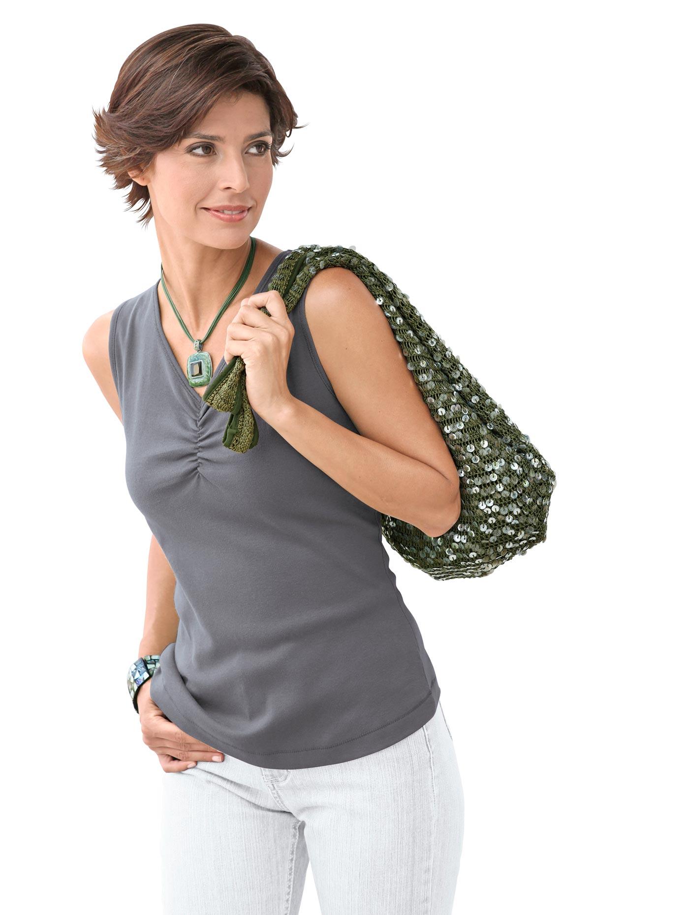 Casual Looks Bluse + Top aus reiner Baumwolle