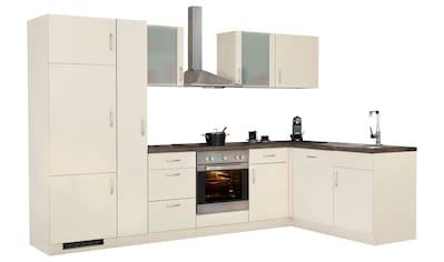 wiho Küchen Winkelküche »Brüssel«, mit E-Geräten, Stellbreite 310 x 170 cm kaufen