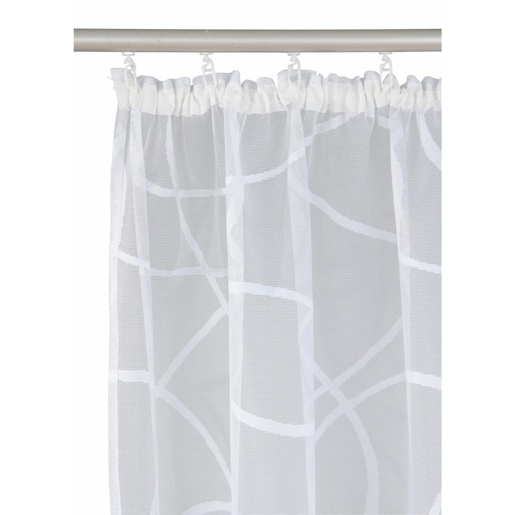 my home Gardine »Mirow«, Vorhang, Fertiggardine, transparent