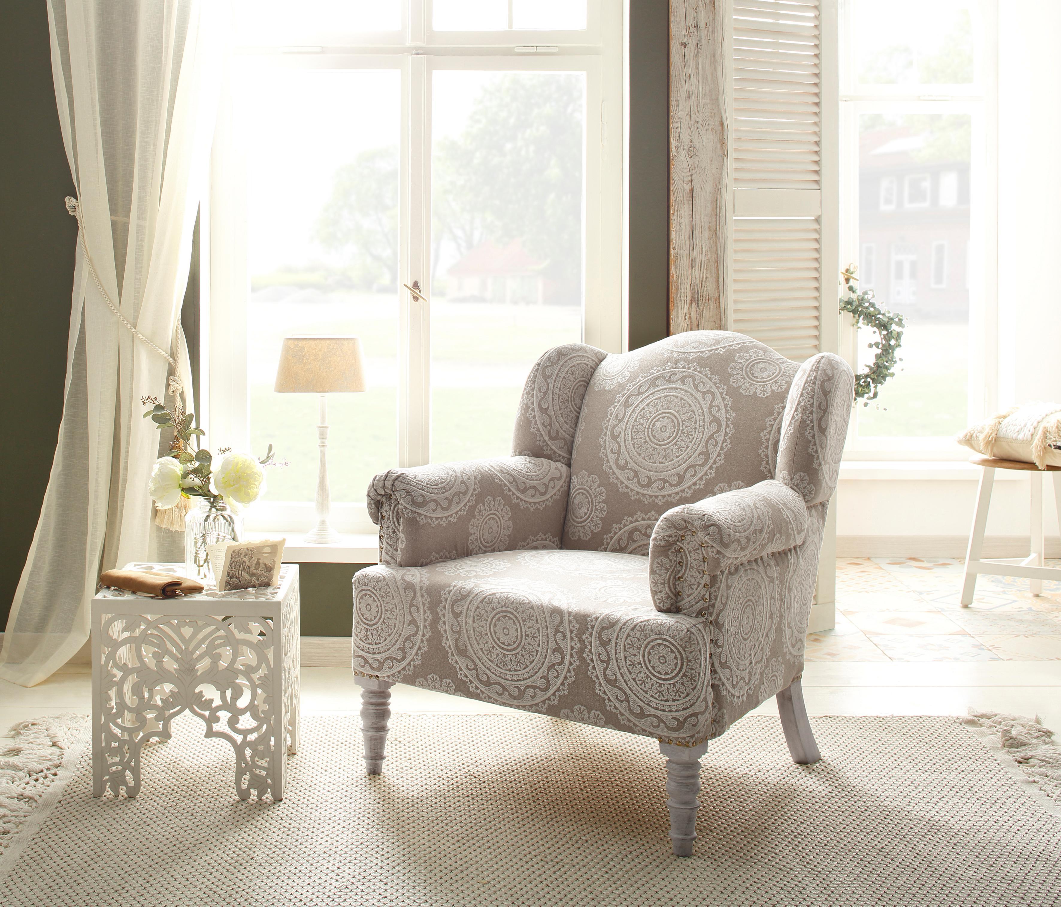Home affaire Sessel Jamal aus schönem Jersey Bezug in bunter Farbvariation Sitzhöhe 44 cm
