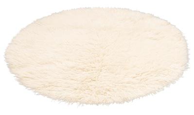 Leonique Wollteppich »Kjara«, rund, 40 mm Höhe, reine Wolle, echter Flokati,... kaufen