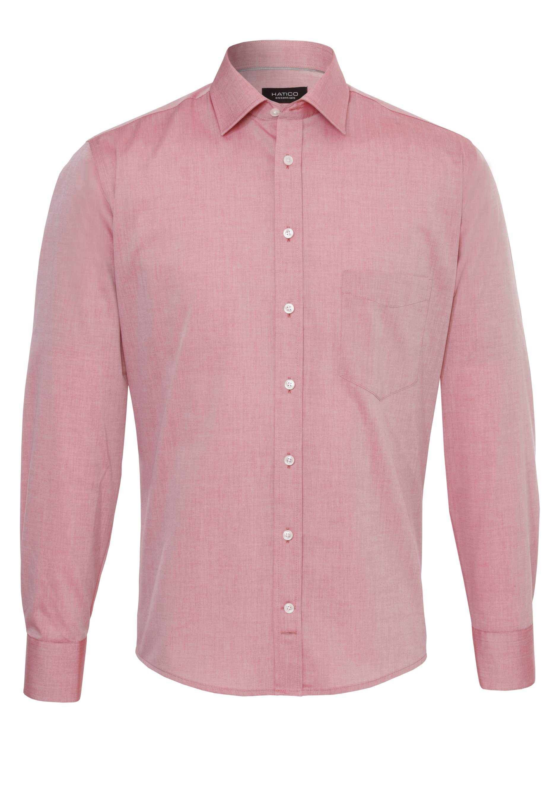 Hatico Businesshemd | Bekleidung > Hemden > Business Hemden | Rot | Jeans - Baumwolle | HATICO