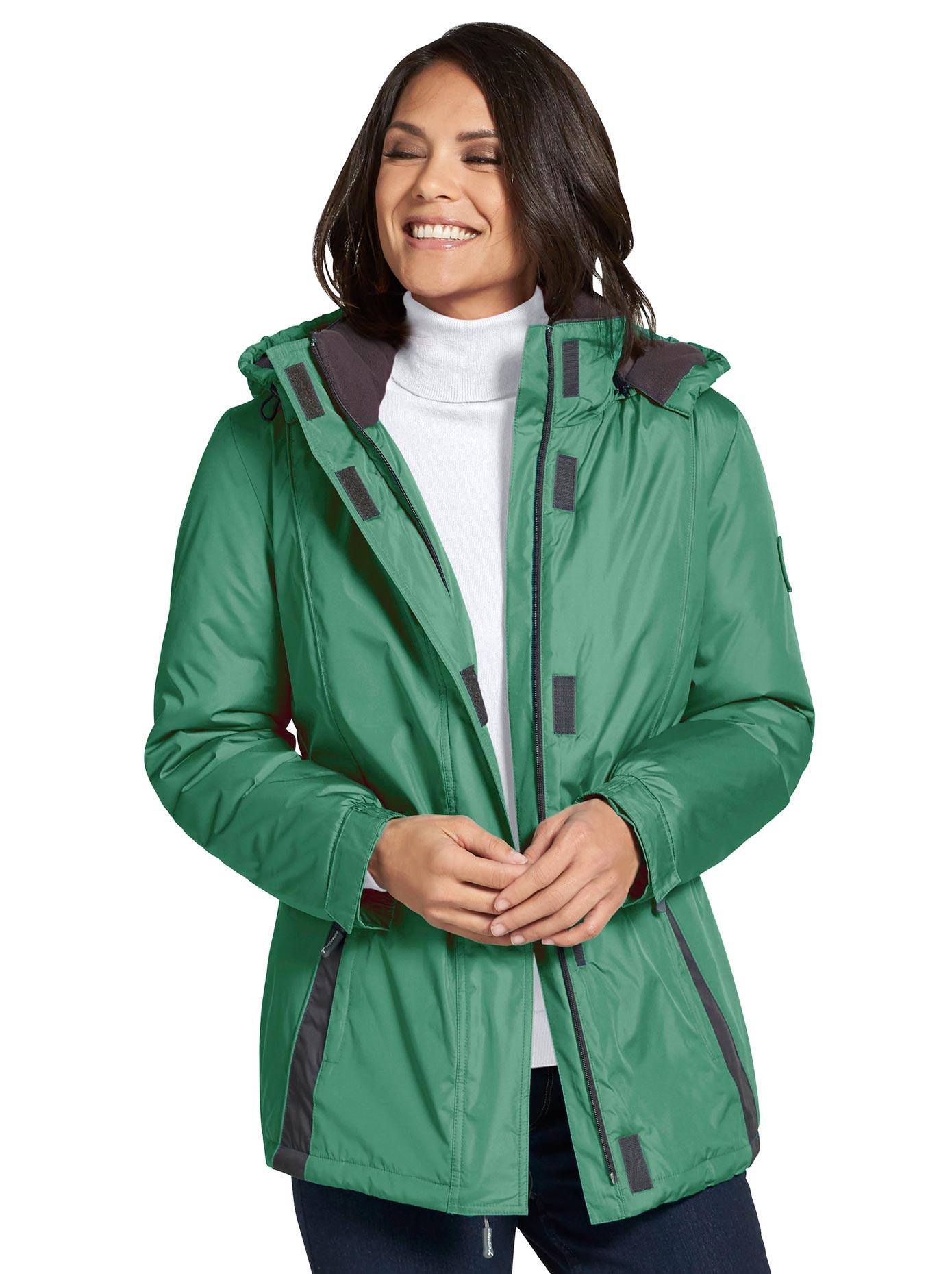Casual Looks Funktionsjacke mit Stehkragen | Bekleidung > Jacken > Funktionsjacken | Grün | Fleece | Casual Looks