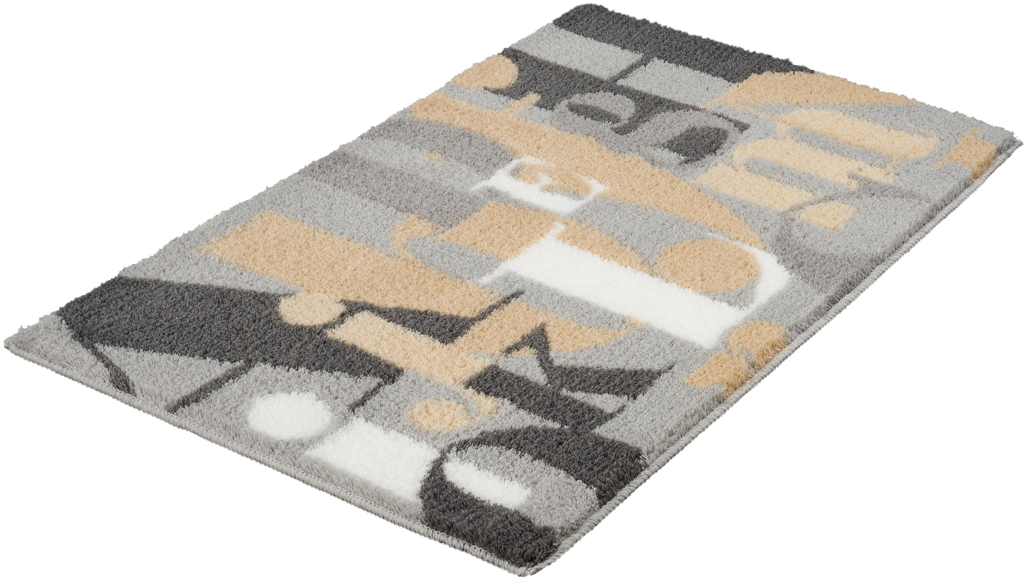 Badematte Letter Kleine Wolke Höhe 15 mm rutschhemmend beschichtet fußbodenheizungsgeeignet