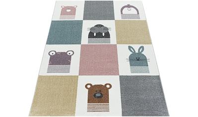 Ayyildiz Kinderteppich »FUNNY 2108«, rechteckig, 11 mm Höhe, Kinder Tiere Motivteppich kaufen