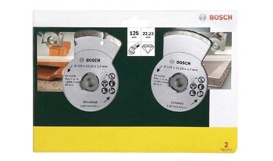 BOSCH Diamanttrennscheibe für Fliesen und Baumaterial, Ø 125 mm (2 Stk.) kaufen