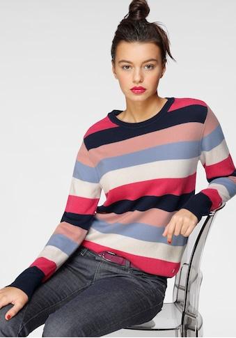 AJC Streifenpullover, in Colourblocking aus reiner Merinowolle kaufen
