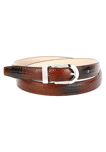 Anthoni Crown Ledergürtel, mit Krokomuster, helle Rückseite kaufen