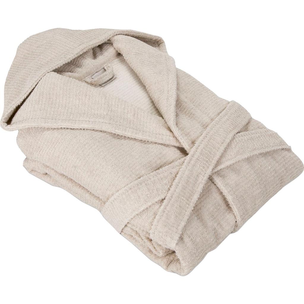 Möve Bademantel »Wellbeing«, aus Bio-Baumwolle und Leinen