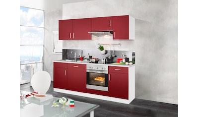 wiho Küchen Küchenzeile »Valencia«, mit E-Geräten, Breite 220 cm kaufen