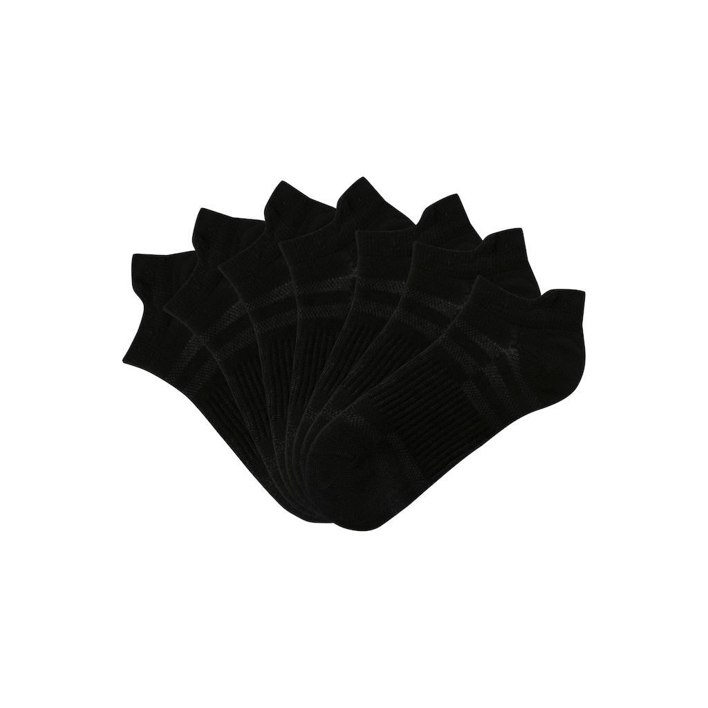 LASCANA ACTIVE Sneakersocken, (7 Paar), in Piqué-Optik