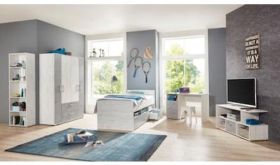 arthur berndt Jugendzimmer - Set »Insa« (Set, 5 - tlg Bett + 4 trg. Schrank + Schreibtisch + Standregal + Lowboard) kaufen