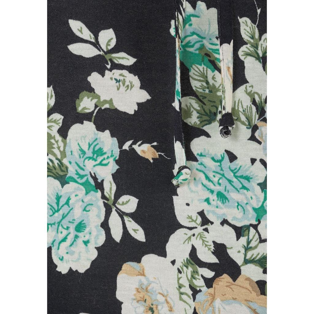 s.Oliver Beachwear Sommerkleid, (mit Bindeband), mit Blumenprint