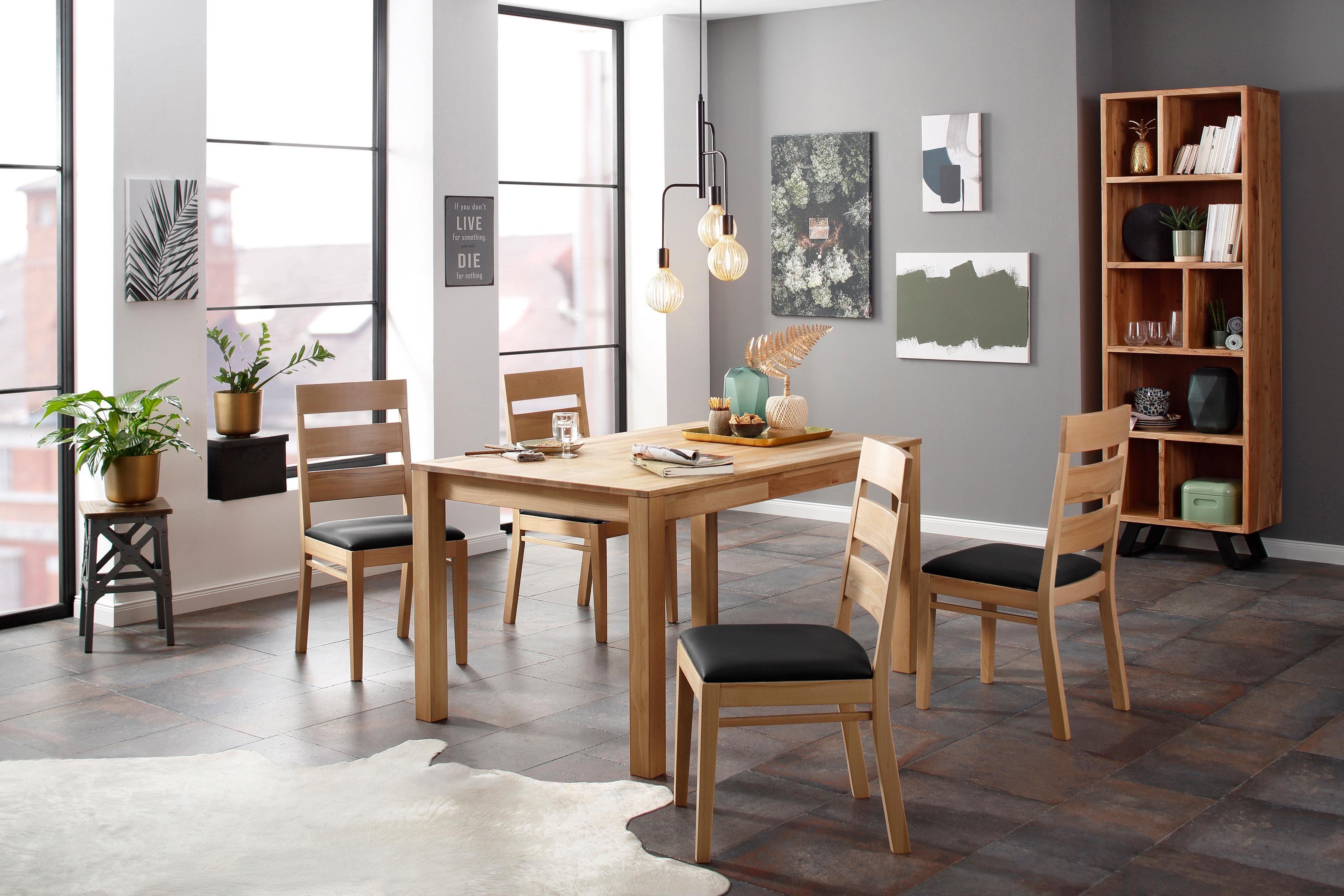 Holzzone Esstisch SÖREN beige Holz-Esstische Holztische Tische