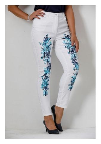 MIAMODA Hose mit aufwendiger Stickerei vorne kaufen