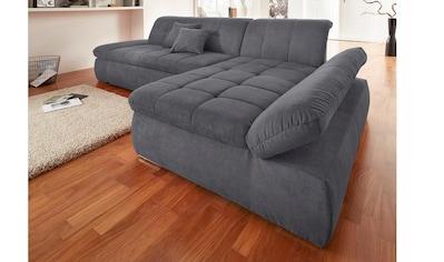 DOMO collection Ecksofa »NMoric Top«, mit Recamiere, wahlweise mit Bettfunktion kaufen