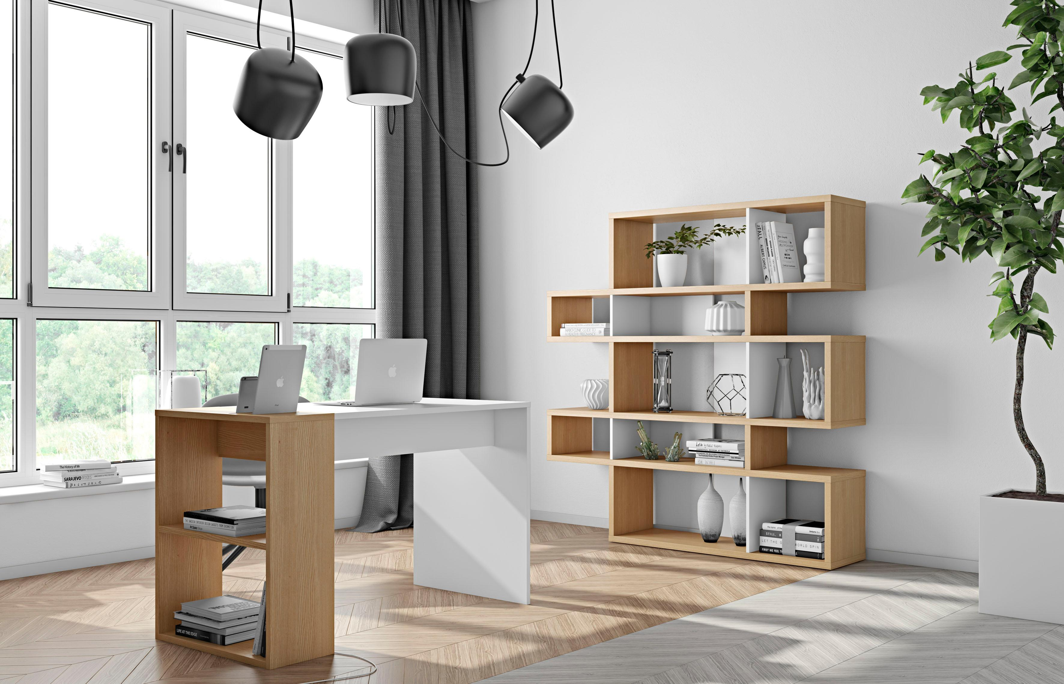 andas Schreibtisch »Harbour« in schöner gemischter Holzoptik, Breite 120