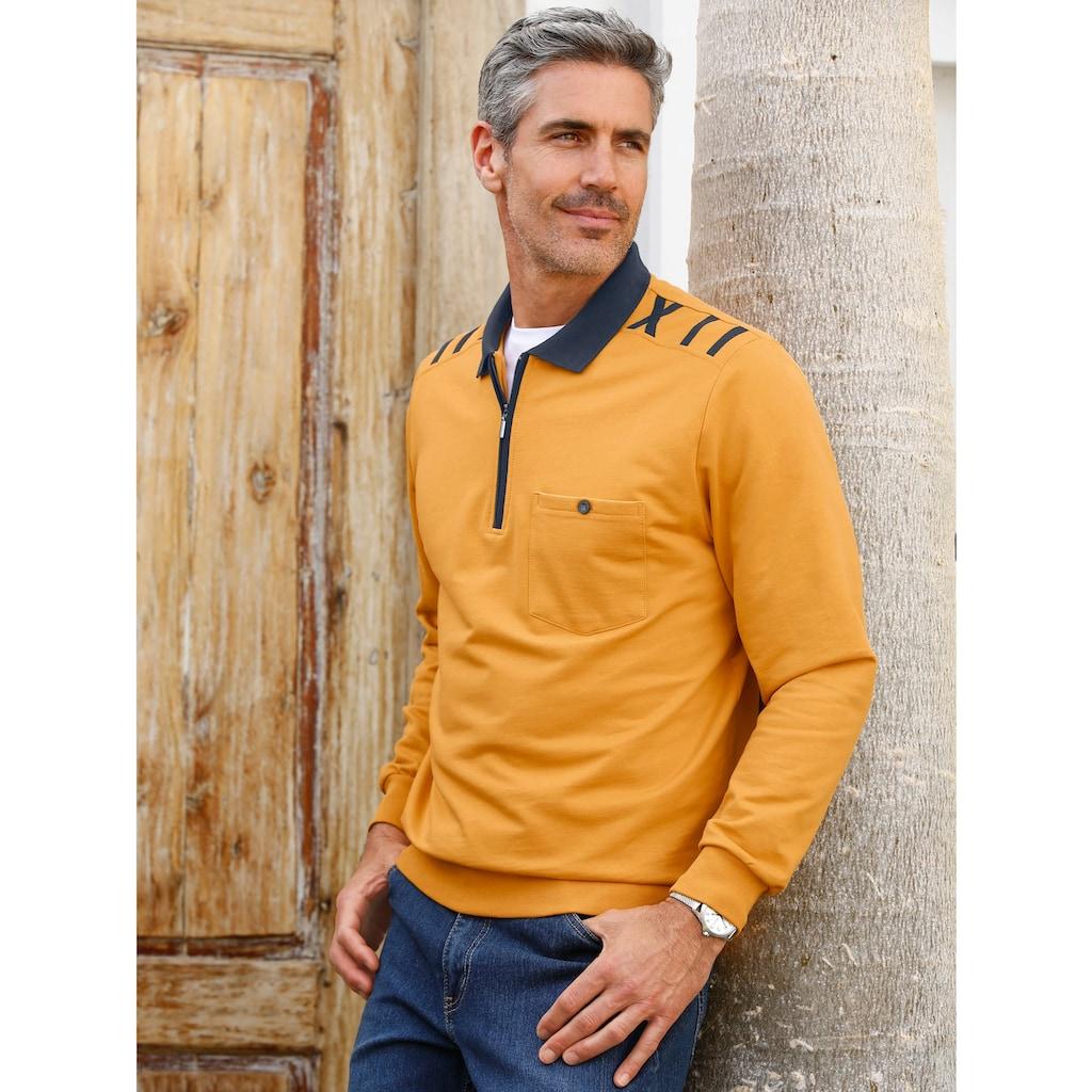 Roger Kent Sweatshirt mit Kontrastdetails