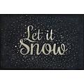 Fußmatte, »Let it Snow«, wash+dry by Kleen-Tex, rechteckig, Höhe 7 mm, gedruckt