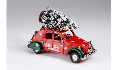 CHRISTMAS GOODS by Inge,LED Dekoobjekt»Weihnachtsauto mit Baum«, kaufen